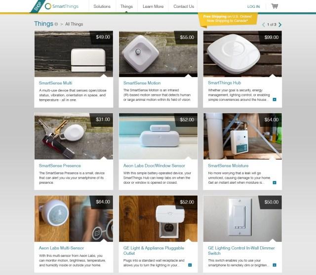 Shop-SmartThings-List