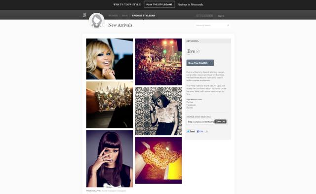 StyleSeek Screenshot - Eve StyleDNA