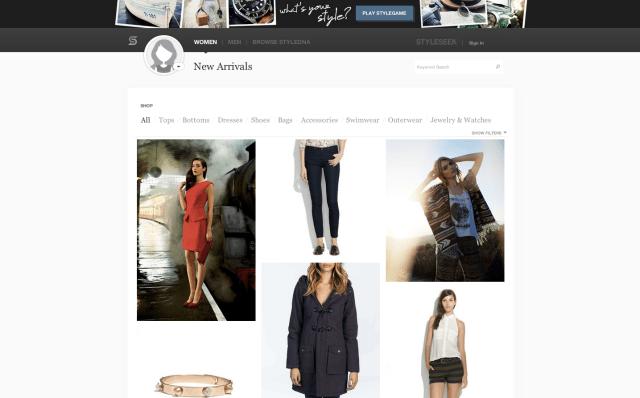 StyleSeek Screenshot - New Arrivals