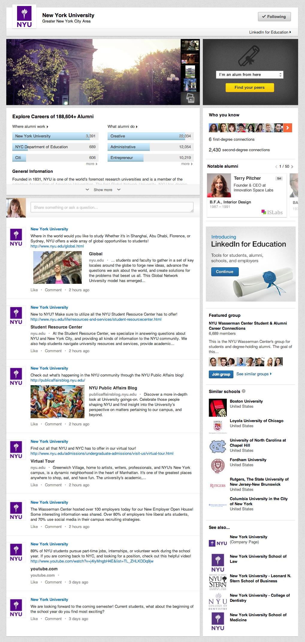 University Page NYU