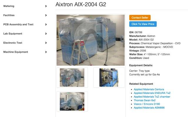 Used Aixtron AIX-2004 G2 for Sale   Asseta
