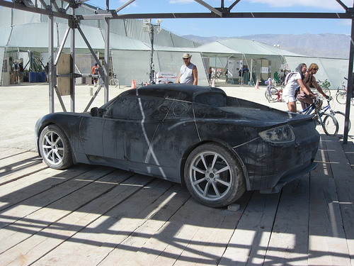 an early Tesla prototype, reportedly captured in 2007
