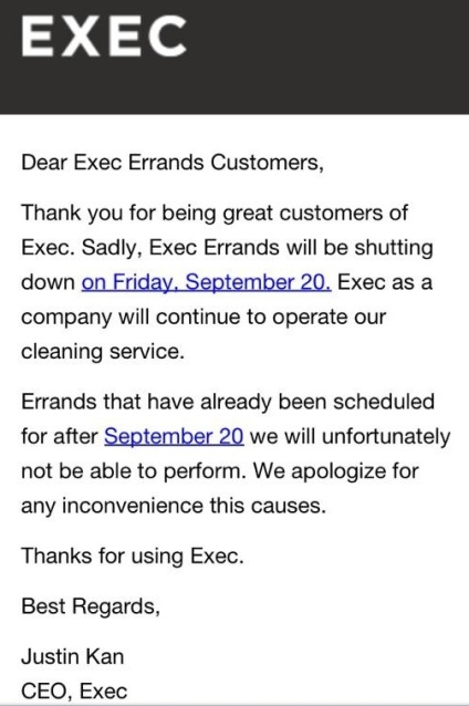 Exec Shut Down