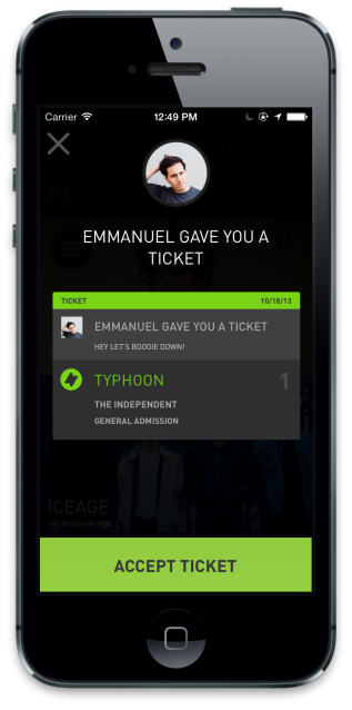 Accept Tickets WillCall