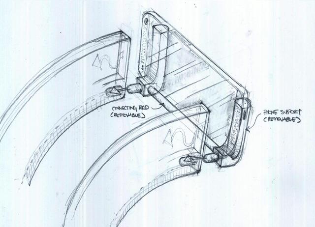 Sketch HTC Mount