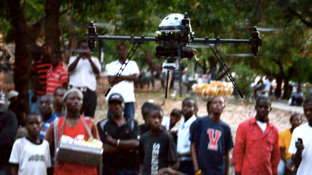 An image from Matternet's drone delivery pilot in Haiti