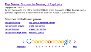 Rap Genius Search Results