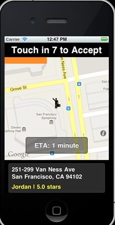 Old version of Uber Driver app