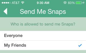 Snap settings