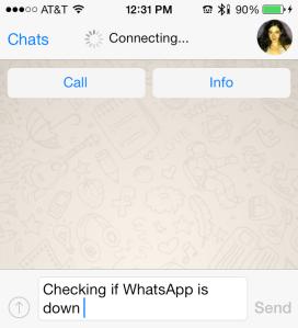 WhatsApp Connecting