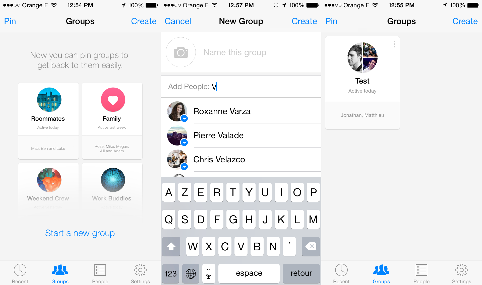 Facebook Messenger Groups