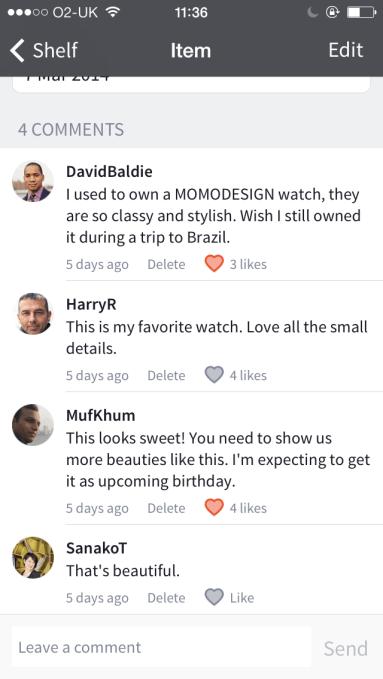 Item comments