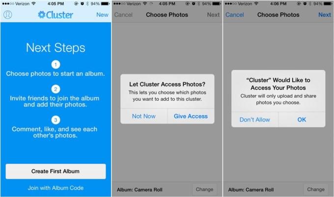 Using the iOS dialog for pre-permission.
