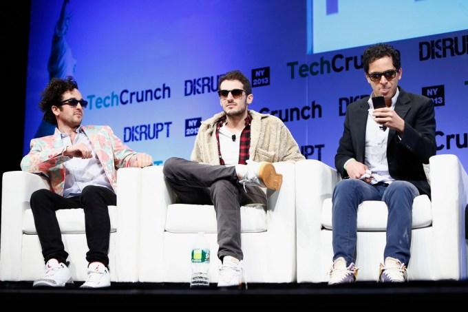 Rap Genius co-founders (from left): Tom Lehman, Ilan Zechory, Mahbod Moghadam