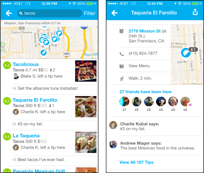 Foursquare Listings and Profile