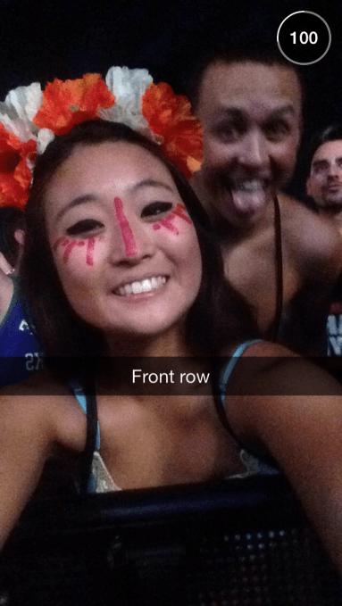 Front Row Selfie