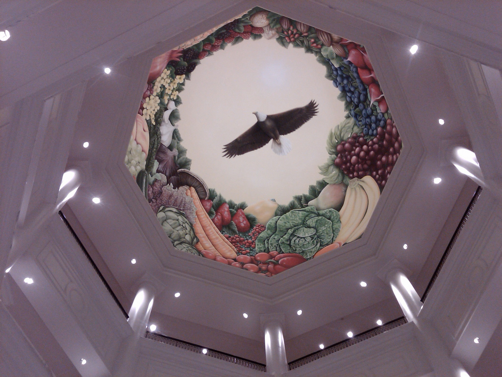 NCRC Painting in rotunda, Flickr