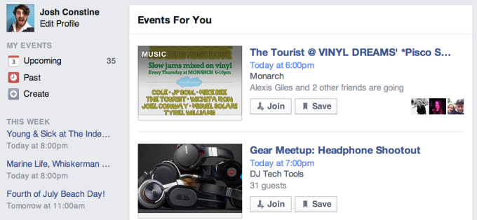 Facebook Events For You