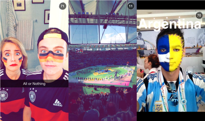 Snapchat Our Story World Cup
