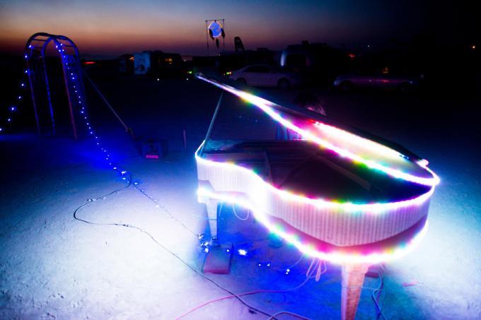 Burning Man Piano