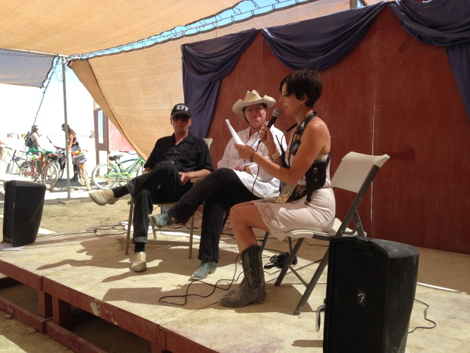 Larry Harvey panel at Burning Man