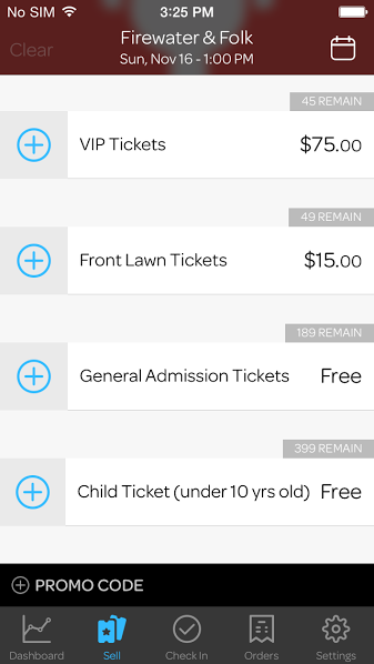 2-Sell Tickets