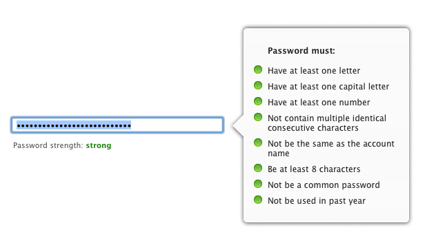 Apple's advice for password creation.