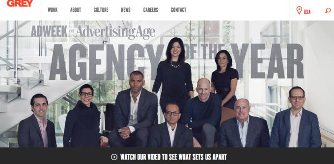 Grey advertising site