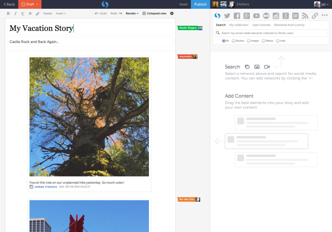 storify multiple users