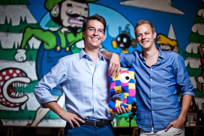 Mate Penzc (l) and Florian Hagenbuch