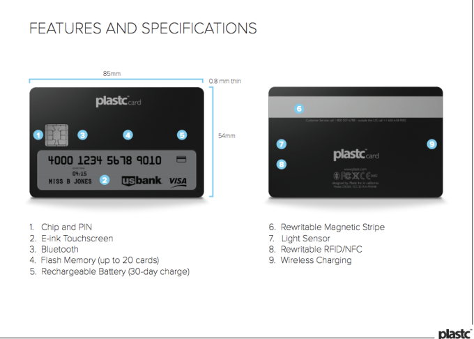 Plastc features and specifications