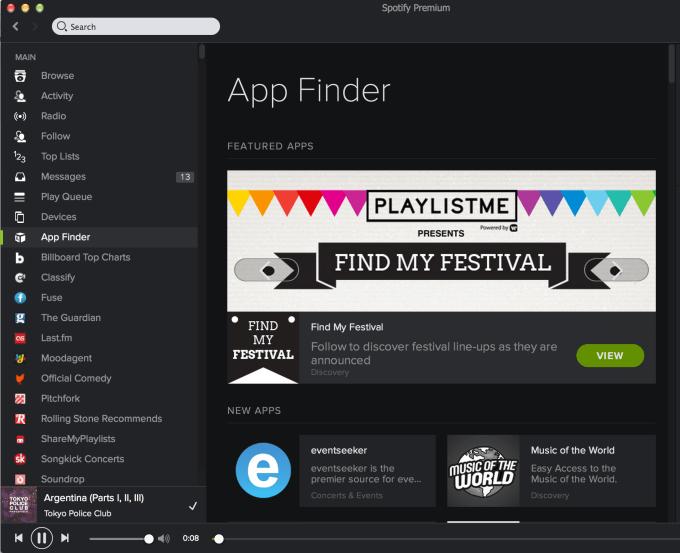 Spotify App Finder