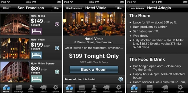 hotel tonight screen shot