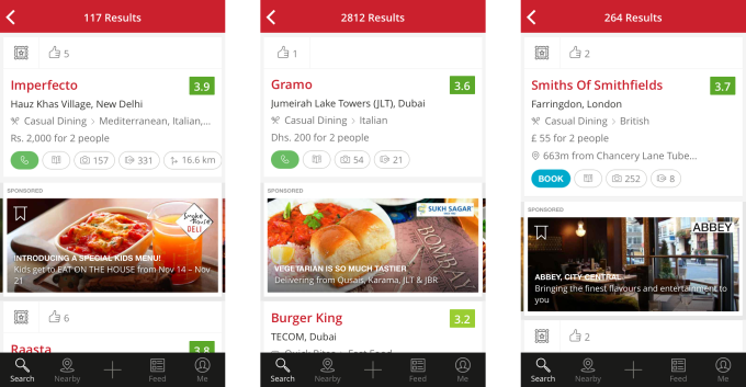 mobile ads zomato
