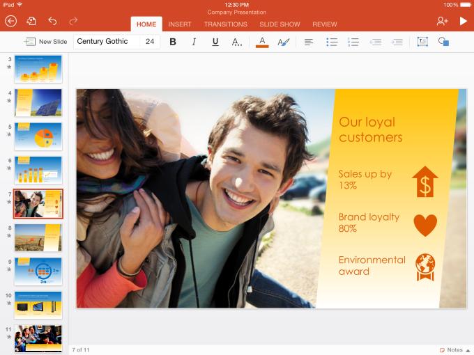 PowerPoint for iPad hero