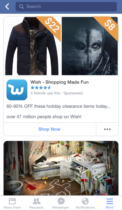 App Ad Feed Shopping Apps