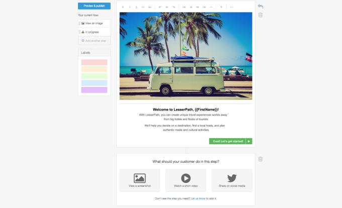 Appcues Product Screenshot