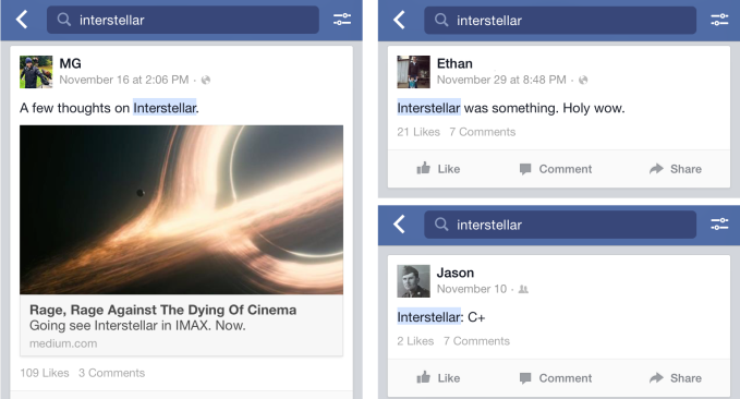 Facebook Interstellar