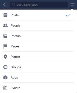 Facebook Search Categorization