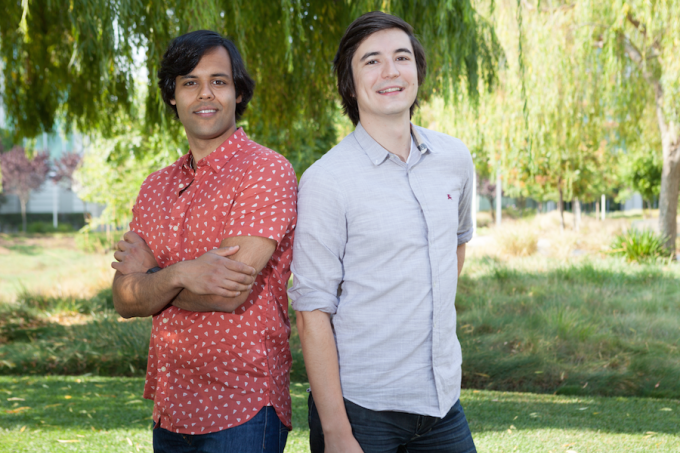 RobinHood founders Baiju Bhatt (left) and Vlad Tenev (right)