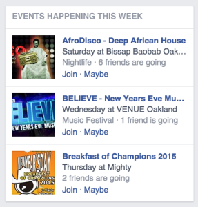 Indexing our posts could improve Facebook's event suggestions