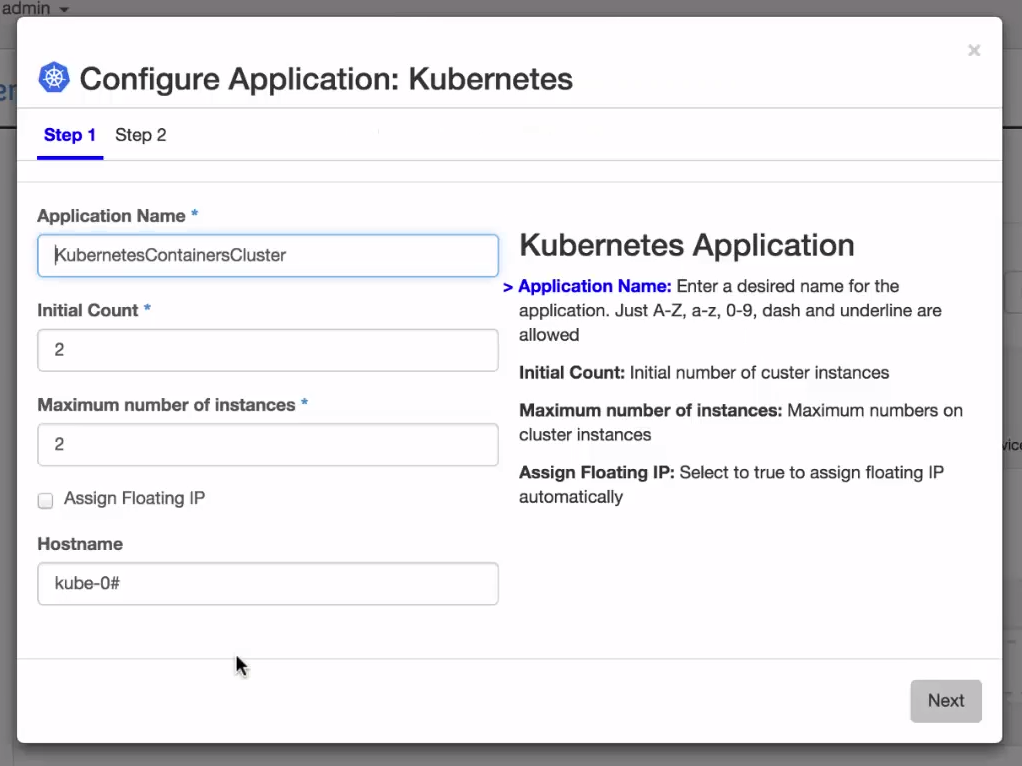 add-the-kubernetes-application-to-the-environment1