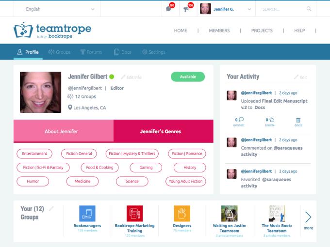 Booktrope screenshot