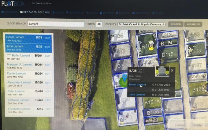 PlotBox drone-maps cemetaries
