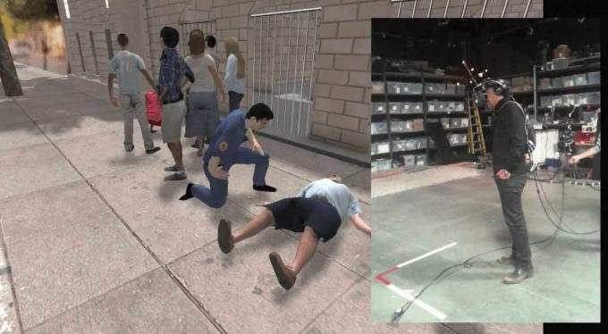 """Nonny de la Peña's VR experience """"Hunger in Los Angeles"""""""