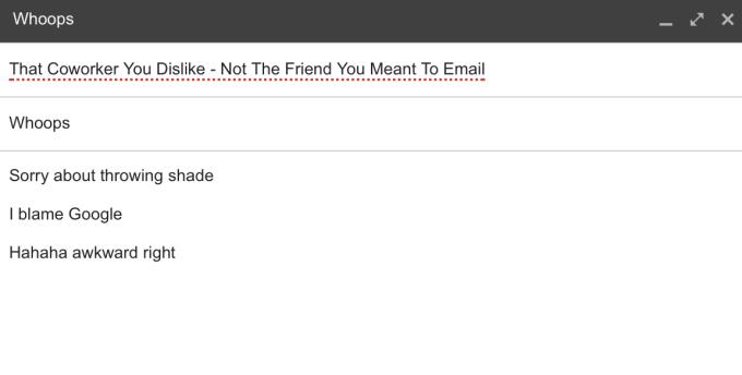 Gmail autocomplete bug