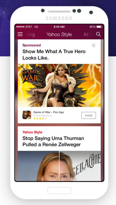 Yahoo Native Ads
