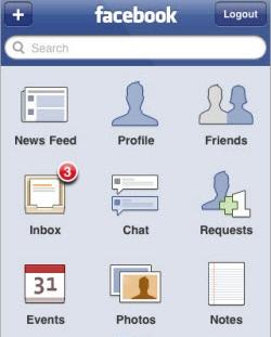 An early Facebook For iOS App