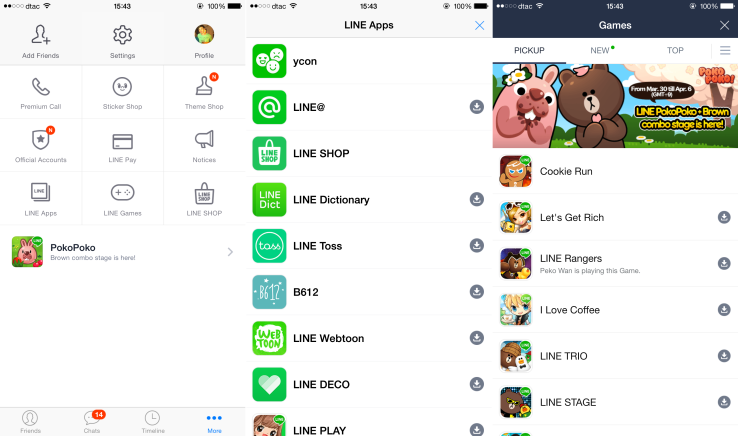 line apps and games