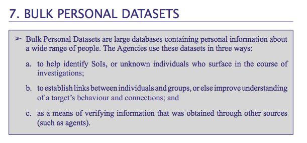 Bulk Personal Datasets